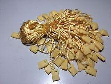 """7"""" 1000 Pcs Hang Tag Nylon String Round Snap Lock Pin Loop Fastener Ties"""