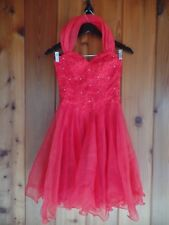 Faviana Junior Coctail Dress Size 3 / 4 Red