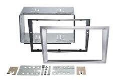OPEL VECTRA C, VIVARO; Panel RADIO COCHE Marco de radio doble DIN aluminio PLATA