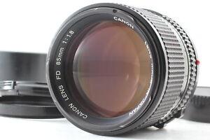 [Near MINT / hood] Canon New FD NFD 85mm f/1.8 Portrait Prime MF Lens JAPAN