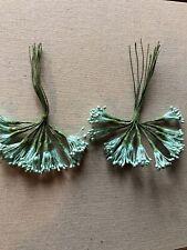 Vintage Millinery Flower Light Green Stamen 24 Stem Lot Unused Stock HzS