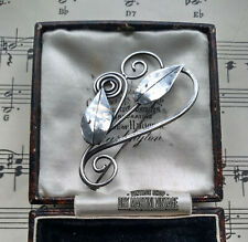 VINTAGE MID CENTURY MODERNIST STERLING SILVER BROOCH PIN ARTISAN BEAUTIFUL GIFT