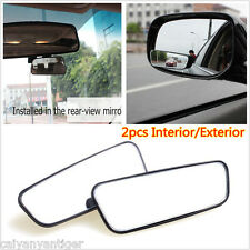 Car Interior/Exterior Auxiliary Mirror HD Side Mirror Rearview Blind Spot Mirror