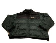 Eddie Bauer Ebtek Goose Down Green Black Puffer Jacket Men's XL 90s Vintage
