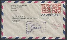 Curacao covers 1941 censored 1st Flightcover to Kingston