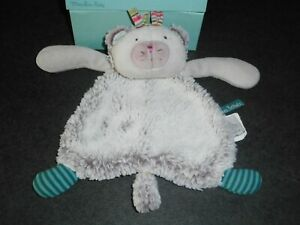 Doudou Plat Chat Gris Vert Chacha Les Pachats Moulin Roty Etat Neuf