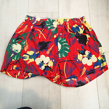 Vintage Colorful Boxer Shorts Hanes 'It's a Boxers Size L 38-40 floral red green