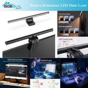Baseus ScreenBar e-Reading Lamp LED Monitor Bar Light i-Work USB Desktop Glare