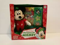 Disney Mickey Mouse Elf Plush w/ Play a Sound Book Limited Edition Christmas Toy