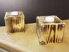 Teelichthalter Holz, Hochzeit, Tischdeko, rustikal, upcycling