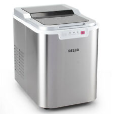 Ice Maker Portable Compact Fresh Cube Machine Travel RVs Boats -Stainless Steel