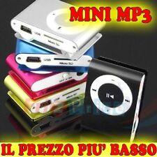LETTORE CON CUFFIA MP3 MINI CAVO USB FINO A 8 GB !OFFERTA! nr