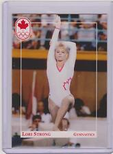 RARE 1992 CANADA SUMMER OLYMPIC LORI STRONG GYMNASTICS ROOKIE CARD #26