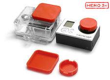 Protezione lenti F. GoPro Go Pro HD HERO 3+ ACCESSORI LENS CAP Protector Copertura Red