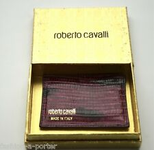 ROBERTO CAVALLI LEATHER CARD HOLDER WALLET BNWT BOX