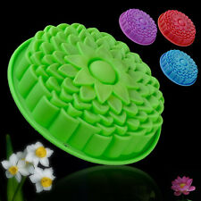"9"" Large Silicone Sunflower Cake Mold Bakeware Bread Mould Pan Baking Tray DIY"