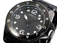 Marc Jacobs Men's Diver Black Silicone Over Stainless Steel Watch 45mm MBM2570