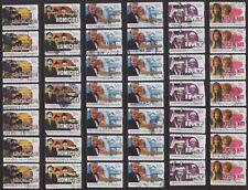 LOT#358y - AUSTRALIAN TELEVISION on POSTAGE STAMPS ideal ARTS CRAFTS; DECOUPAGE