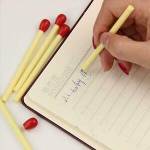 1pcs Ballpoint Pen Stationery Writing Students Match Stick Ink Blue Pens Z8F0
