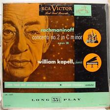 Kapell & Steinberg - Rachmaninoff Piano Concerto No 2 LP VG+ LM 1097 Mono 1950