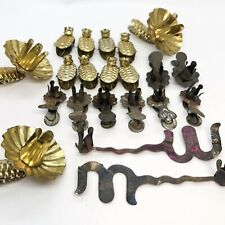 Lot 21 Antique Vintage Victorian Metal Tin Christmas Tree Candle Holder Clips