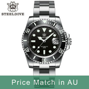 Steeldive SD1953, SUB (date), NH35, AR Sapphire, Lume, 300m Diver, Diving, BNIB