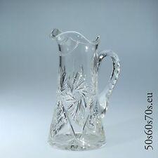 Glas Kanne Bleikristall aufwendiger Tiefschliff H=26,8 cm Jugendstil #253