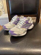 Reebok Easytone Reenew Womens Gray Purple Toning Walking Sneaker Shoe Size 6 EUC