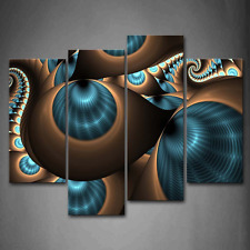 Wall Art Painting Abstract Blue Brown Picture Print Canvas Photo Home Decor Gift