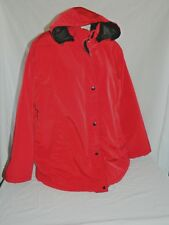 White Stag Women's Plus Size 2X 18/20W Deep Red Heavy Winter Coat Jacket Hooded
