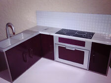 "Lori Kitchen Sink Stove Oven Cupboards 6"" Dolls Battat Our Generation Dawn"