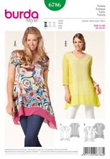 Burda Ladies Plus Size Easy Sewing Pattern 6786 Panelled Tunic Tops (Burda-6786)