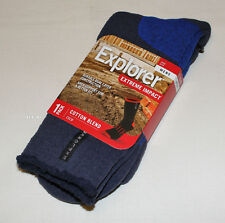 Explorer Socks Mens Navy Extreme Impact Cotton Blend Crew Socks Size 11-14 New