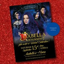Descendants 3 Invitation Custom Personalized Descendants Birthday Printable