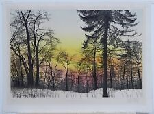 """""""Morning Haze"""" Etching by Franklin S. Galambos"""
