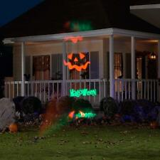 GEMMY HAPPY HALLOWEEN SIGN LED ANIMATED PUMPKIN JOL LIGHT SHOW YARD PROJECTOR