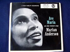 EP: MARIAN ANDERSON: AVE MARIA & OTHER SCHUBERT SONGS~FORELLE~WOHIN~ERLKÖNIG