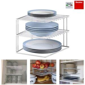 Teller Schrankeinsatz Aufbewahrung Küche Tellerstapler Eck Schrankeinsatz Metal