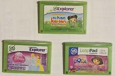 3 Leapster Explorer Game Carts: NI HAO, KAI-LAN - DISNEY PRINCESS - DORA