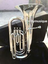 TUBA EB PITCH MADE OF PURE BRASS IN CHROME POLISH + HARD CASE BOX +FREE SHIPPING