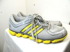MENS ATHLETIC SHOES ADIDAS BRAND SIZE12 GRAY AND YELLOW COLOR    PP4