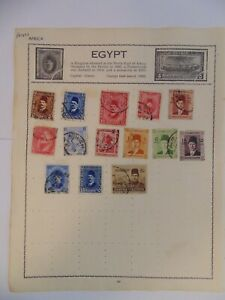 PA 421 - Page Of Mixed Egypt Stamps