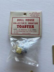 *Miniature Dollhouse B.Shackman & Co Metal Pop Up Toaster & Bread