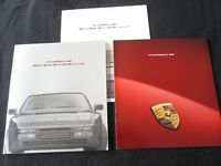 1991 Porsche 944S 2 Coupe & 944 S2 Cabriolet Brochure & Range Sales Catalog Set