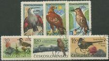 Tschechoslowakei 1965 Gebirgsvögel: Steinadler, Tannenhäher 1568/73 gestempelt