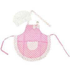 Kella Milla Pink Polka Dots and Ruffles Kids Apron & Hat Set - NEW