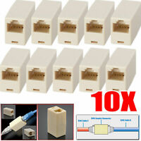 10 X Network Ethernet Lan Cable Joiner Coupler Plug Connector RJ45 CAT 5 5E 2019
