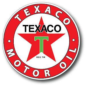 TEXACO MOTOR OIL SUPER HIGH GLOSS OUTDOOR 4 INCH DECAL STICKER