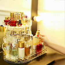 Rotating Makeup Organizer Adjustable Carousel With Tray For Cosmetics US Stock