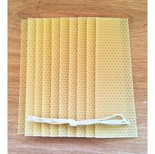 KIT per fare candela di cera d'api, 10 fogli di cera d'api naturale, istruzioni, WICK, Cera